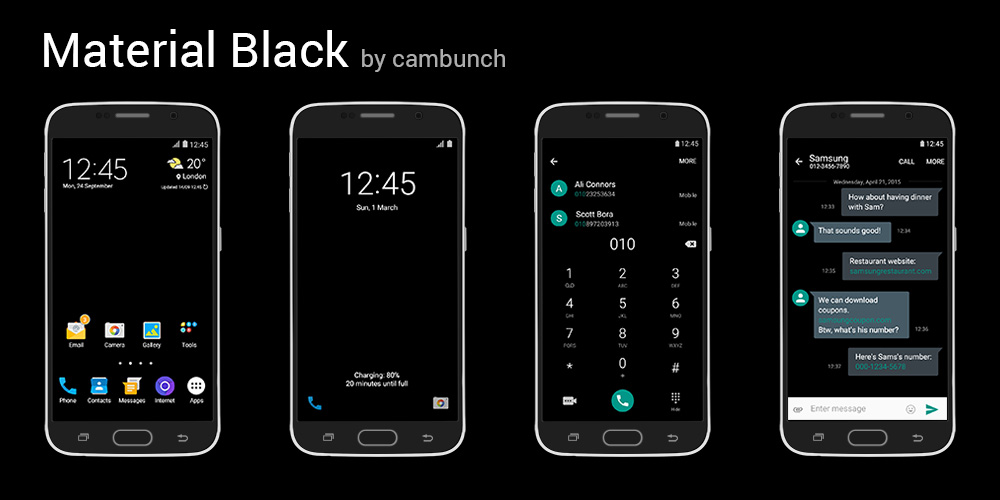 [THEME] Material Themes by cambunch | Samsung Galaxy S6
